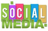 Social Media Professional Colourful — ストック写真