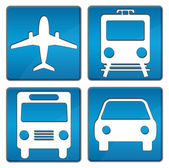 Travelling Icons Blue — Stock Photo
