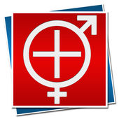Sexual Health Sign Red Blue — Stock Photo