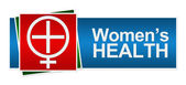 Womens Health Red Green Blue Banner — Stock Photo