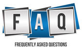 FAQ 3 Blocks — Stock Photo