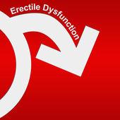 Erectile Dysfunction Red White — Stock Photo
