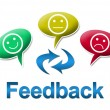 Feedback with Colourful Comments Symbol — Stock Photo