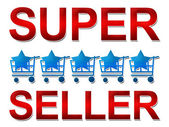 Super Seller Five Star — Stock Photo