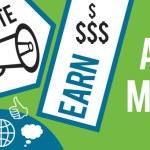Affiliate Marketing Green Blue Banner — Stock Photo