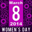 Womens Day Purple Pink Circles — Stock Photo #51735341