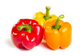 Three color peppers — Stock Photo