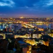 Istanbul night view — Stock Photo