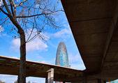 Torre agbar em barcelona — Foto Stock