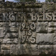 Memorial stone Bergen-Belsen — Stock Photo