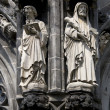 Statues of the Aachen Cathedral — Stock Photo