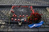 Dutch Auschwitz Monument — Stock Photo