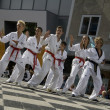 Taekwondo occur in the city of Hoogeveen — Stock Photo