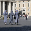 Stock Photo: Nuns on PiazzSPietro