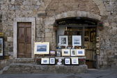 Paintings in San Gimignano — Stock Photo