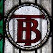 Stained glass window of the former Twentsche Bank — Stock Photo