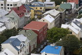 View on the roofs of houses in Reykjav�k, Iceland — Stockfoto