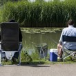 Anglers in park Westerveld in Arnhem, Netherlands — Stock Photo