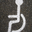 Designation handicapped parking in Steenwijk, Netherlands — Stock Photo