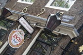 Restaurant D'Vijff Vlieghen Spuistraat, Amsterdam, Netherlands — Stock Photo