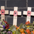 Remembrance Crosses at the Airborne Cemetery in Oosterbeek, Netherlands - Stock Photo