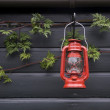 Oil lamp in an allotment in Utrecht, Netherlands — Stock Photo