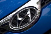 Logo of car brand Hyundai, Netherlands — Stock Photo