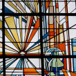 Stained glass window in Veenkoloniaal Museum, Netherlands — Stock Photo #17480187