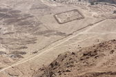 Traces of an old camp can be seen from a mountain at Masada, Israel — Stock Photo