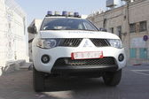 Police car in Bethlehem, Israel — Stock Photo
