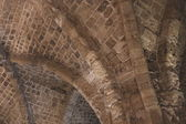 Ceiling Vaults of the Crusader fortress in Acre, Israel — Stock Photo