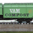 Stock Photo: Former railway carriage of waste disposal company VAM in Wijster