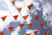 橙色标志 — 图库照片