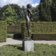 Stockfoto: Bronze statue in garden estate Verhildersum, Netherlands