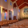 Interior shot of Skalholt church Iceland — Stock Photo