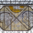 Stock Photo: Stained glass in fuel central hall of airport Keflavik