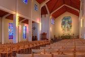 Interior shot of Skalholt church Iceland — Stock Photo