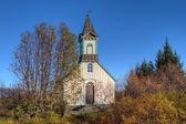 Church in Thingvellir Iceland — Stock Photo