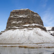 A snowy mountain in Iceland — Stockfoto