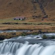 Flowing stream in a mountain valley Iceland — Stock Photo #33612323
