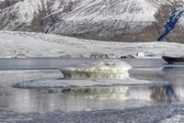 Ice floes in lake in Iceland — Stock Photo