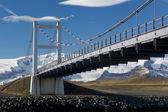 Glacial River Bridge spans That Jokulsarlon — Stock Photo