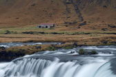 Flowing stream in a mountain valley Iceland — Stock Photo