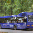 Shuttle bus to the former camp site Westerbork, Netherlands — Stock Photo