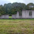 Stock Photo: Reconstruction of punishment barracks in Camp Westerbork, Netherlands