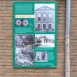 On wall billboards that reminded of former synagogue in Meppel — Stock Photo #37431739