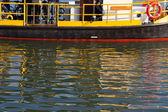 Reflections of a ferry into the water, The Netherlands — Stock Photo