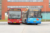 Buses at the railway station — Stock Photo