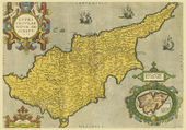 Old map of Cyprus — Stock Photo