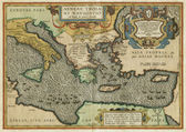 Old map of Mediterranean Sea — Stock Photo